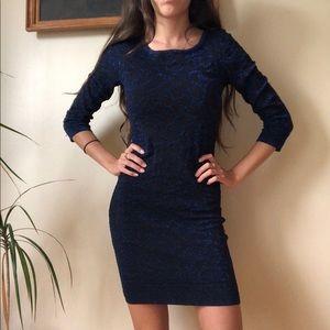 Le Château Blue/Black Sparkle Dress XS